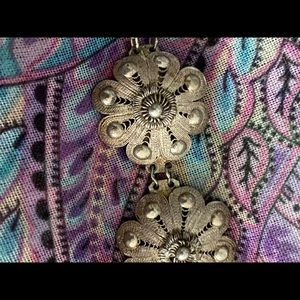 Vintage Silver Oriental Fine Bracelet with Clasp